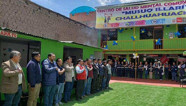 En Challhuahuacho inauguran Centro de Salud Mental Comunitario.