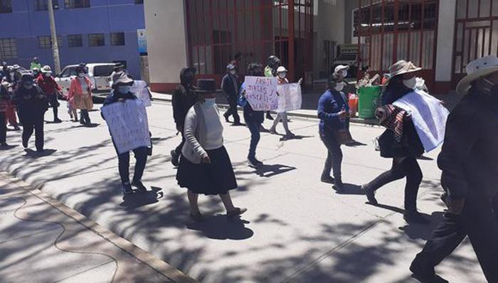 Huancavelica: conato de bronca en protesta por calles de ciudad