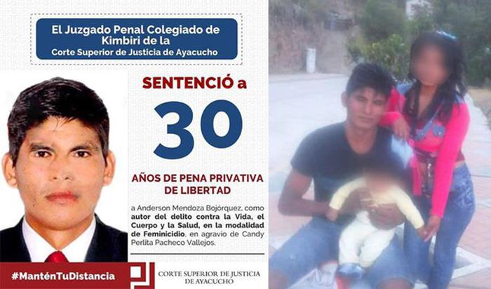 Ayacucho: condenan a 30 años de prisión a feminicida
