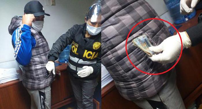 Cusco: intervienen a jefe policial con mil soles de presunta coima