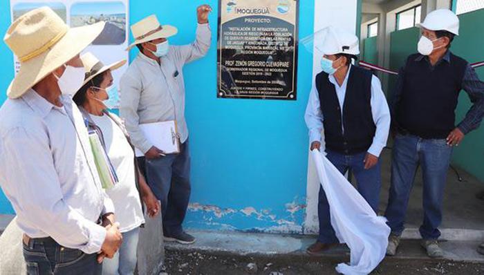 Moquegua: irrigarán más de 169 hectáreas de cultivo en Nuevo Querapi
