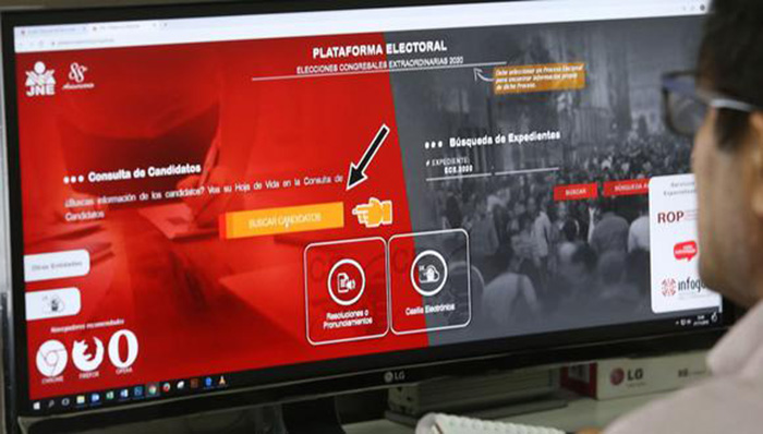 JNE actualizó plataforma Voto Informado para las Elecciones Generales 2021