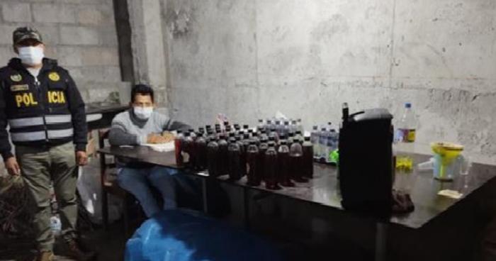 Policía desarticula banda dedicada a la adulteración de licores en Chincheros
