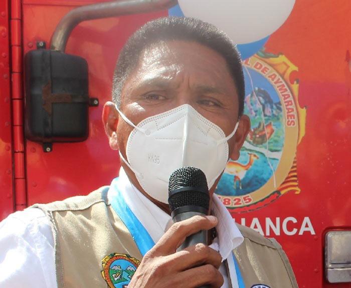 Alcalde de Aymaraes Alberto Argote se recupera lentamente tras contagiarse de covid-19