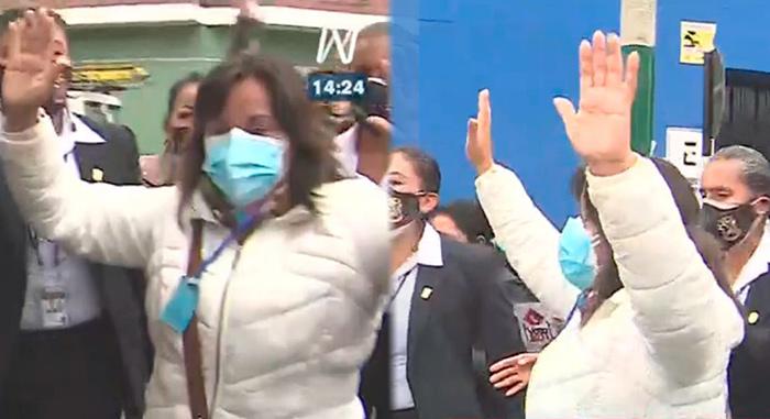 Boluarte fue agredida por simpatizantes de Fuerza Popular luego de sufragar