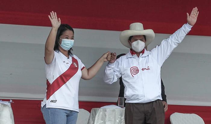 Pedro Castillo y Keiko Fujimori debatieron en Chota de cara a la segunda vuelta