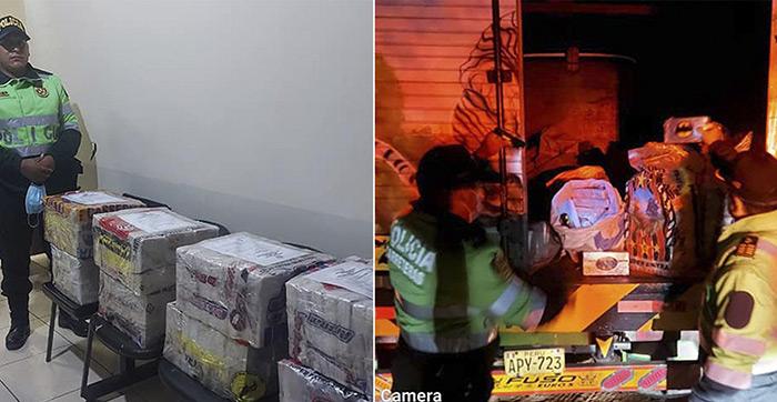 Moquegua: Policía interviene camión con 215 kilos de droga en Ilo