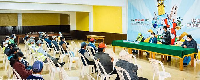 Entregan dosis de ivermectina a personal primera línea de Municipalidad de Talavera