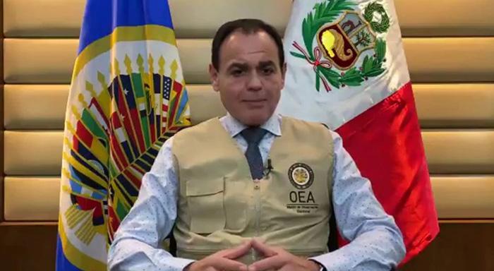 Jefe de misión de observadores de OEA felicita a los peruanos por la jornada electoral
