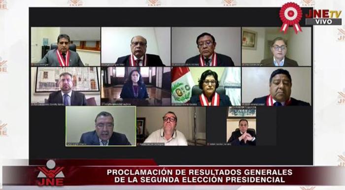 JNE proclama a Pedro Castillo como Presidente del Perú para el periodo 2021-2026