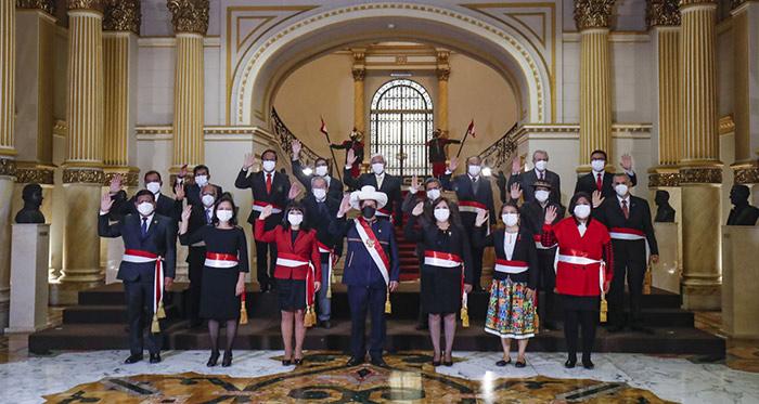 Estos son los integrantes del Gabinete que preside Mirtha Vásquez