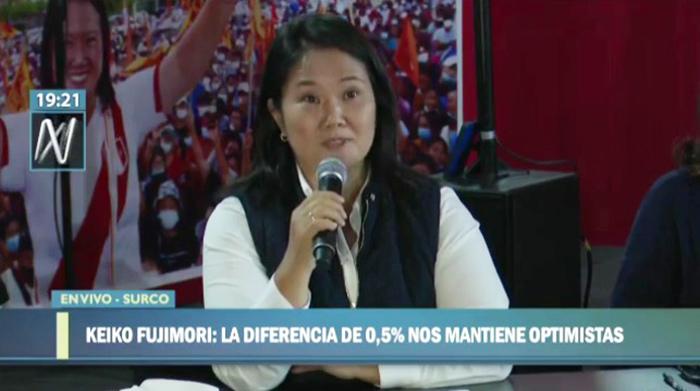 Keiko Fujimori denunció