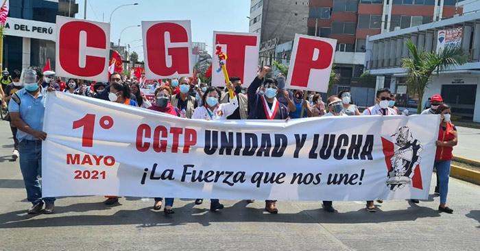 Congresista Checco y dirigentes de la CGTP sostuvieron encuentro por el Día del Trabajo