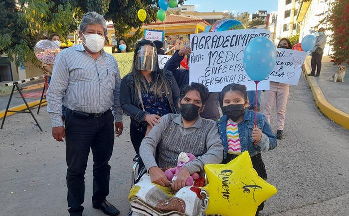 Paciente de 44 años vence al Covid-19 luego de permanecer internado 60 días en UCI del hospital regional