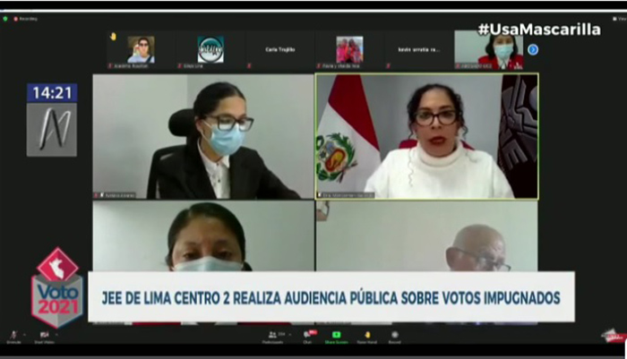 Segunda Vuelta: JEE Lima Centro 2 realiza audiencia pública sobre votos impugnados