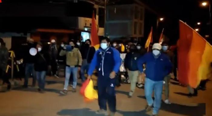 Se registran marchas de simpatizantes de Perú Libre en Abancay y Andahuaylas