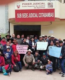 Las Bambas: anulan sentencia absolutoria de 19 pobladores denunciados por conflicto del 2015