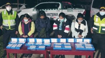 Cae banda de mujeres bolivianas con más de 30 kilos de clorhidrato de cocaína