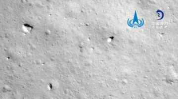 China logra recoger rocas tres horas después de posarse en la Luna