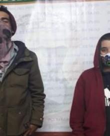 Policía Nacional interviene a dos extranjeros por haber ingresado ilegalmente a nuestro país.