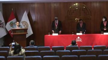 JNE entregó credenciales a cinco parlamentarios andinos electos para período 2021-2026