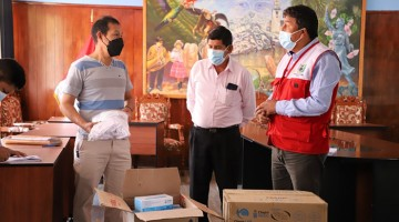 Municipio de Abancay entregó mascarillas a pobladores de comunidad campesina de Juan Velasco Alvarado
