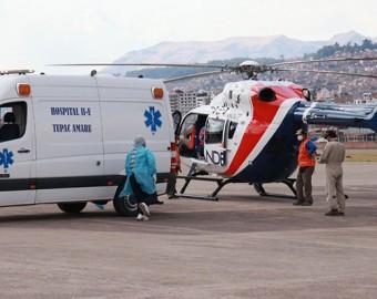 Cusco: evacúan por vía aérea a 4 personas que resultaron heridas en balacera por terrenos