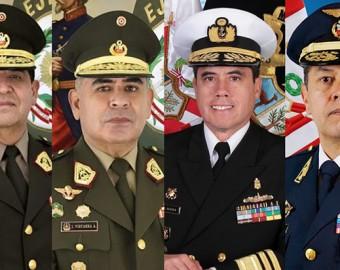 Renuevan el CC. FF. AA. y comandancias generales del Ejército, Marina y FAP