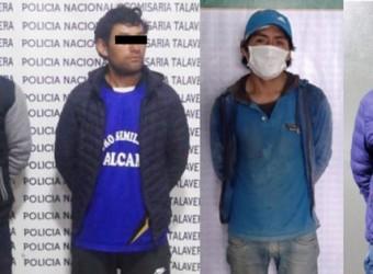 Policía Nacional detiene a cuatro sujetos por violencia familiar en Andahuaylas