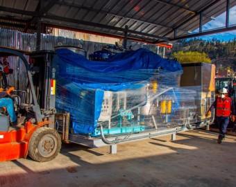 Llegan equipos de planta de oxígeno medicinal para Hospital de Andahuaylas