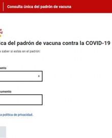 Gobierno publicó padrón único de vacunación contra el coronavirus